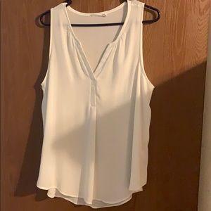 White flowy sleeveless top
